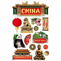 Paper House Productions - 3 Dimensional Cardstock Stickers - China