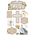 Paper House Productions - 3 Dimensional Cardstock Stickers - Greatest is Love