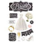Paper House Productions - 3 Dimensional Cardstock Stickers - The Bride