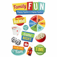 Paper House Productions - 3 Dimensional Cardstock Stickers - Family Fun