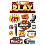 Paper House Productions - 3 Dimensional Cardstock Stickers - School Play