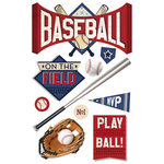 Paper House Productions - All Star Collection - Baseball - 3 Dimensional Cardstock Stickers - Batter Up