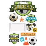 Paper House Productions - All Star Collection - Soccer - 3 Dimensional Cardstock Stickers - Champ