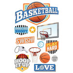 Paper House Productions - All Star Collection - Basketball - 3 Dimensional Cardstock Stickers - Swish