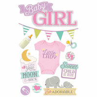 Paper House Productions - 3 Dimensional Layered Stickers - Baby Girl