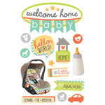 Paper House Productions - 3 Dimensional Layered Stickers - Welcome Home Baby