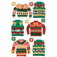 Paper House Productions - 3 Dimensional Layered Stickers - Ugly Sweaters