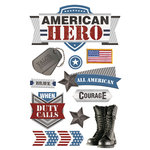 Paper House Productions - 3 Dimensional Layered Stickers - American Hero 2
