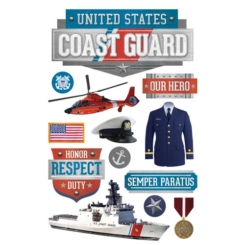 Paper House Productions - 3 Dimensional Layered Stickers - US Coast Guard