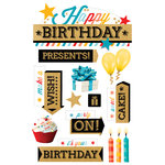 Paper House Productions - 3 Dimensional Layered Stickers - Happy Birthday 2