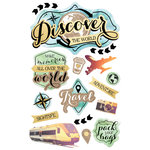 Paper House Productions - 3 Dimensional Cardstock Stickers - Discover the World