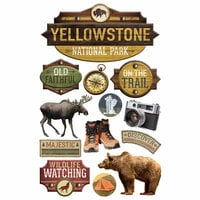 Paper House Productions - 3 Dimensional Cardstock Stickers - Yellowstone