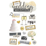 Paper House Productions - 3 Dimensional Cardstock Stickers - Wedding Reception