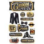 Paper House Productions - 3 Dimensional Cardstock Stickers - Groom