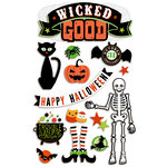 Paper House Productions - Halloween - 3 Dimensional Cardstock Stickers - Wicked Good