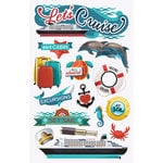 Paper House Productions - 3 Dimensional Cardstock Stickers - Let's Cruise with Foil Accents
