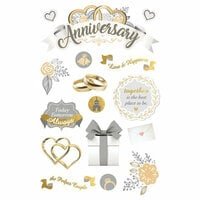 Paper House Productions - 3 Dimensional Stickers - Our Anniversary