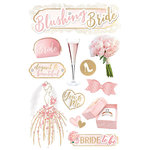 Paper House Productions - 3 Dimensional Stickers - Blushing Bride