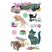 Paper House Productions - 3 Dimensional Stickers - You Had Me at Meow