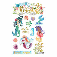 Paper House Productions - 3 Dimensional Stickers - Mermaids