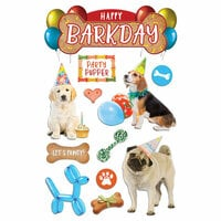 Paper House Productions - 3 Dimensional Stickers - Happy Bark Day
