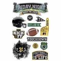 Paper House Productions - 3 Dimensional Stickers - Friday Night Under the Lights