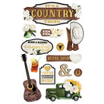 Paper House Productions - 3 Dimensional Stickers - It's A Country Thing