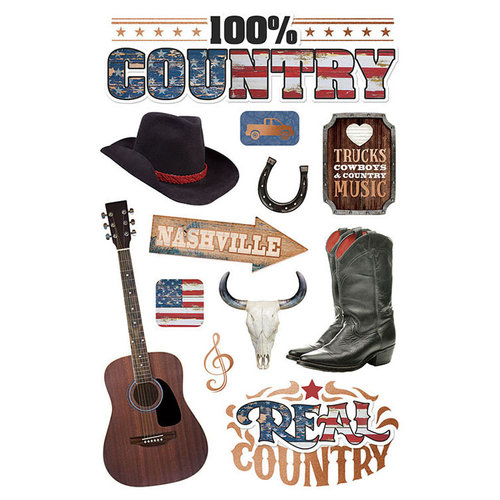 Paper House Productions - 3 Dimensional Stickers - Country