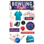 Paper House Productions - 3 Dimensional Stickers - Bowling Night