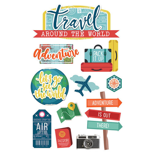 Paper House Productions - 3 Dimensional Stickers - Around the World