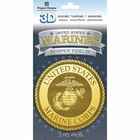Paper House Productions - 3 Dimensional Cardstock Stickers - Marines Emblem