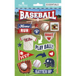 Paper House Productions - Destinations and Essentials Collection - Cardstock Stickers with Foil and Glitter Accents - Baseball