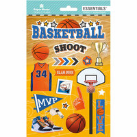 Paper House Productions - Destinations and Essentials Collection - Cardstock Stickers with Foil and Glitter Accents - Basketball