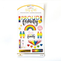 Paper House Productions - This Is Us Collection - 2 Dimensional Stickers - Proud Family