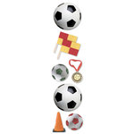 Paper House Productions - Soccer Collection - 3 Dimensional Cardstock Stickers - Soccer