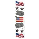 Paper House Productions - 3 Dimensional Stickers with Glitter Accents- American Hero