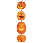 Paper House Productions - Halloween - 3 Dimensional Stickers with Glitter Accents - Jack 'O Lanterns