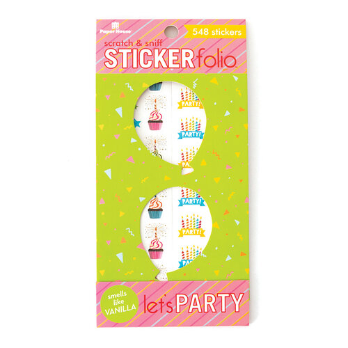 Paper House Productions - Cardstock Stickers - Scratch and Sniff Folio - Let