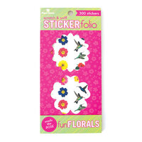 Paper House Productions - Cardstock Stickers - Scratch and Sniff Folio - Fun Floral