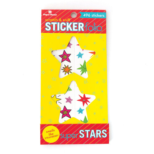 Paper House Productions - Cardstock Stickers - Scratch and Sniff Folio - Super Stars