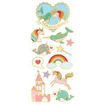 Paper House Productions - StickyPix - Faux Enamel Stickers - Magical with Foil Accents