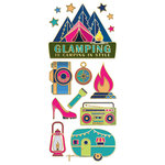 Paper House Productions - StickyPix - Faux Enamel Stickers - Glamping with Foil Accents