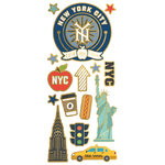 Paper House Productions - StickyPix - Faux Enamel Stickers - New York City with Foil Accents