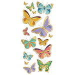 Paper House Productions - StickyPix - Faux Enamel Stickers - Butterflies with Foil Accents