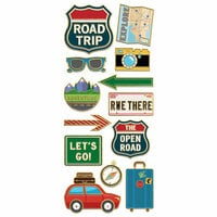 Paper House Productions - StickyPix - Faux Enamel Stickers - Road Trip with Foil Accents