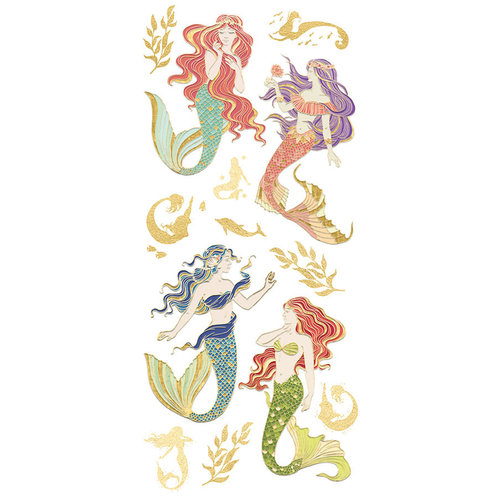 Paper House Mystical Mermaid Faux Enamel Stickers