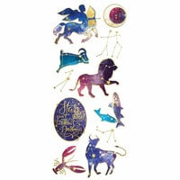 Paper House Productions - StickyPix - Faux Enamel Stickers - Celestial with Foil Accents