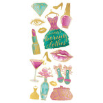 Paper House Productions - StickyPix - Faux Enamel Stickers - Glam Fashion with Foil Accents