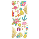 Paper House Productions - StickyPix - Faux Enamel Stickers - Neon Tropical with Foil Accents
