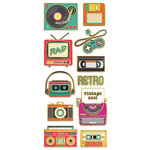 Paper House Productions - StickyPix - Faux Enamel Stickers - Retro Electronics